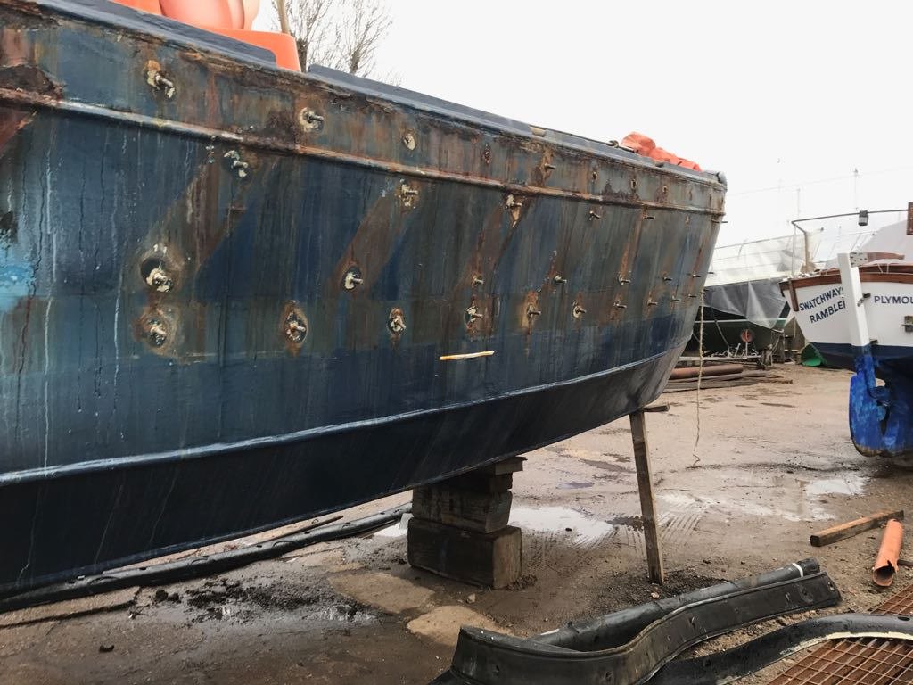 THV Galatea undergoing various jobs at Frank Halls and Sons